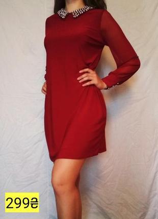 Красное шифоновое платье для вечерних прогулок