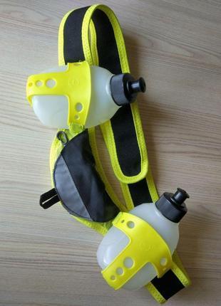 Немецкая питьевая система crivit для бега с 2-мя бутылками и карманами (гидратор)