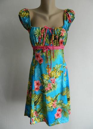 Яркое платье dolce vita с пальмовыми листьями