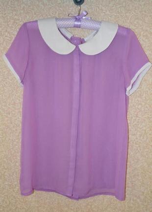 Шифоновая блуза с воротничком