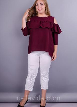 Красивая блуза с воланами!!!!!!!!
