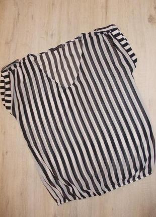 Актуальная полосатая блузка размер s-8