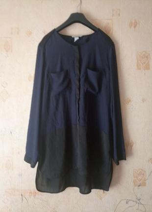Красивая удлиненная блуза-рубашка/блузка