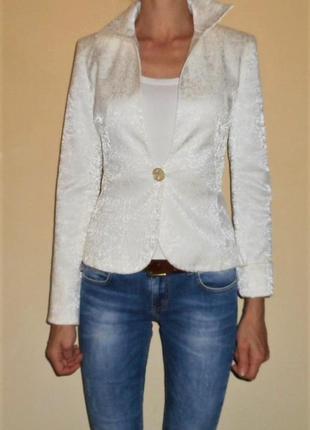 Жакет пиджак белый natali bolgar 34р возможен торг