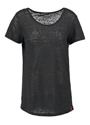 Льняная футболка esprit edc, 100% лен