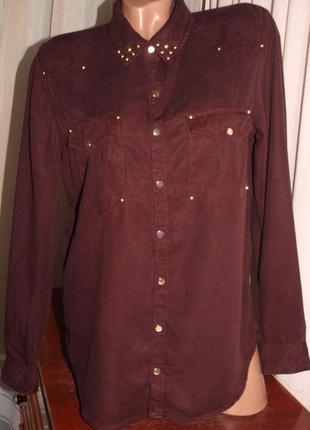 Красивая мягкая рубашка (л замеры) 100% lyocell (вискоза), превосходно смотрится