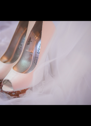 Туфли blossem свадебные белые босоножки на свадьбу