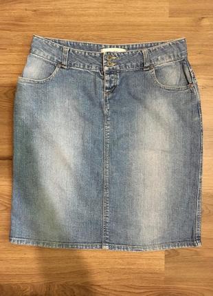 Базовая джинсовая юбка миди!
