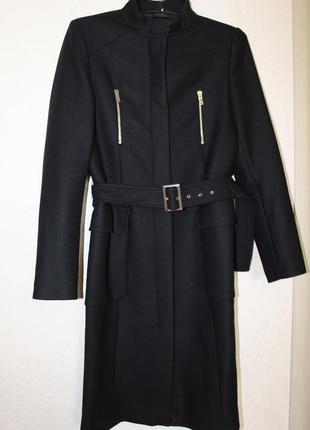 Осеннее шерстяное пальто zara