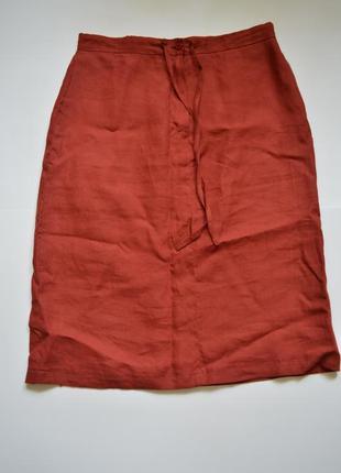 Трендовая актуальная юбка лен
