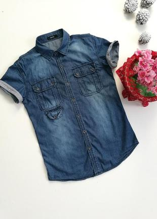 Invictus, джинсовая рубашка, размер s.