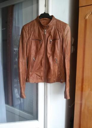Эффектная кожаная куртка helium 100% кожа