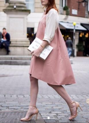 Платье finery london пудрового цвета