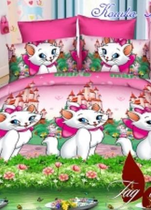 1,5-спальный комплект постельного белья детский tag ранфорс кошка мэри, выбор расцветок