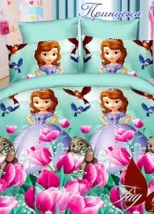 1,5-спальный комплект постельного белья детский tag ранфорс софия, выбор расцветок