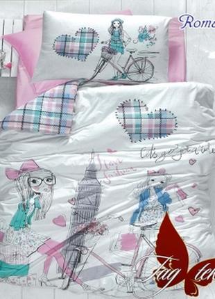 1,5-спальный комплект постельного белья детский tag ранфорс романтика, выбор расцветок