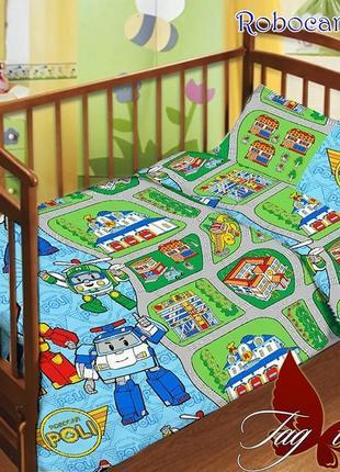 Комплект постельного белья детский в кроватку tag поли, выбор расцветок большой
