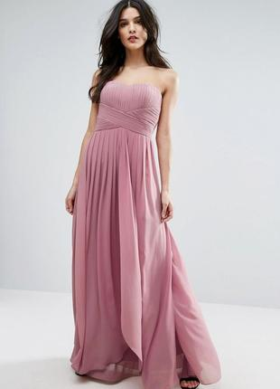 Скидки! нежное воздушное вечернее платье в пол с корсетом, шифоновое макси asos