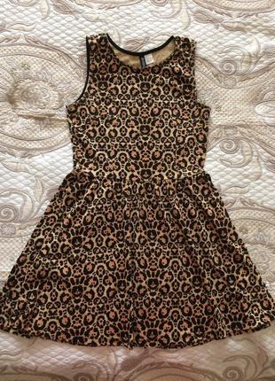 Удобное леопардовое платье divided