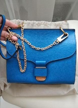 Шикарная синего цвета сумка coccinelle