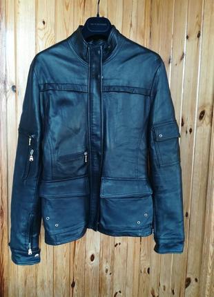 Кожаная куртка итальянского бренда vera pelle.