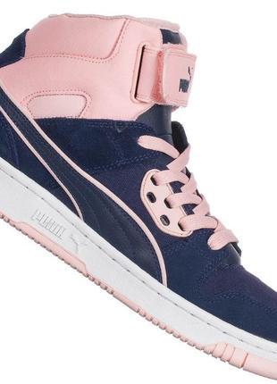 73beecc3b015 Оригинал кроссовки унисекс высокие кожаные puma rebound street cv unisex  размер 42