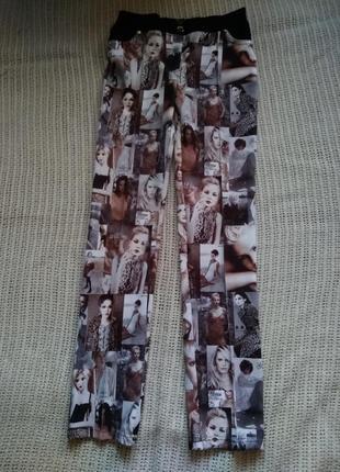 Самые модные стильные брюки (valdini) с ярким оригинальным принтом,хит сезона,осень
