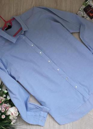Модная рубашка свободного кроя м-л(40) h&m