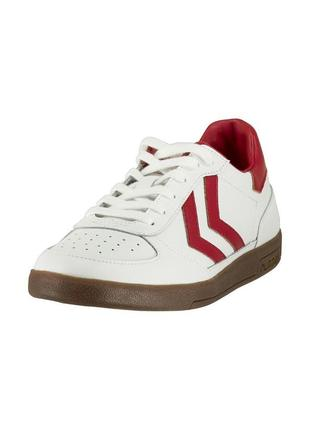 Кросівки hummel unisex adults' victory leather low-top sneakers, white/red
