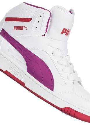 Оригинал кроссовки унисекс высокие баскетбольные puma rebound v2 hi размер 38,5