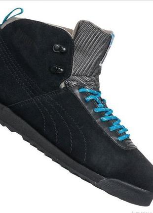 Оригинал кроссовки ботинки зимние замшевые  унисекс  puma roma размер 38 39