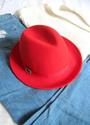 Яркая стильная фетровая шляпа h&m