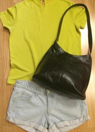 Фирменная кожаная сумка red head italy,деловая черная сумочка+подарок шарф