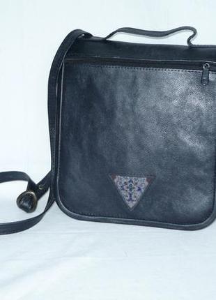 Сумка почтальон планшет портфель кожаная короткая и длинная ручка через плечо