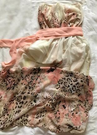 Длинное нежно розовое платье в пол