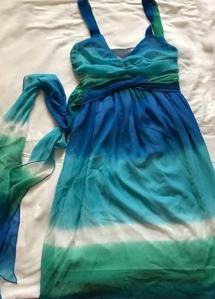 Летний сарафан цвета морской волны