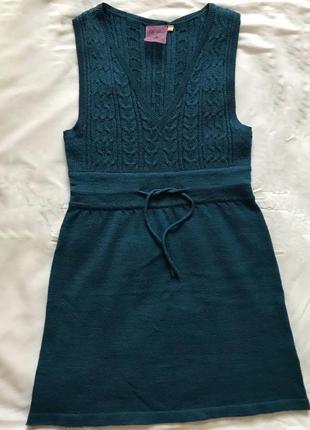 Шерстяное мини платье