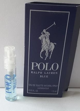 Пробник туалетной воды 1,5 мл ralph lauren polo blue,  сша