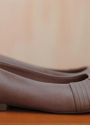 Женские кожаные балетки, туфли clarks, кларкс. 37.5 - 38 размер. оригинал