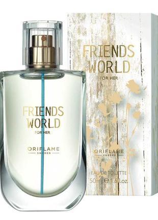 Туалетная вода friends world for her ( в подарок пробник помады)