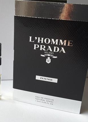 Пробник парфюмированной воды 1,5 мл prada l'homme intense,