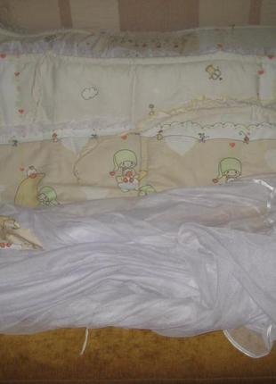 Набор защиты на детскую кроватку, защитные бортики
