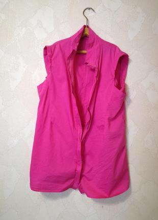 Продам яркую летнюю розовую накидку/дождевик из коттона! размер свободный. s-m