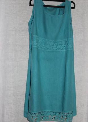 100% лен платье италия
