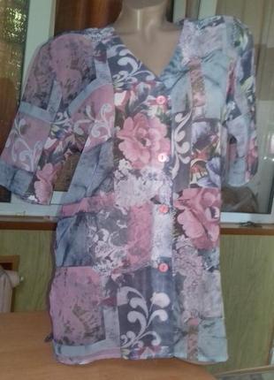 Красивая блуза/цветы/англия