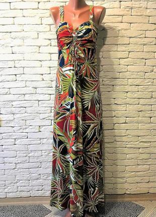Пёстрое платье макси длины из вискозы