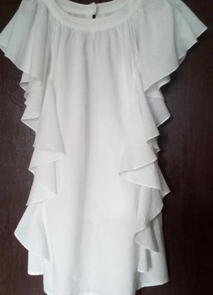 Платье с оборками платье с воланами тонкий хлопок как zara