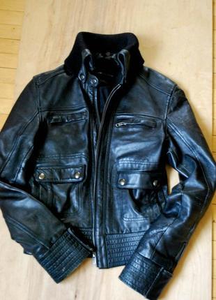 Куртка натуральная кожа mango s