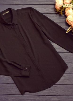 Базовая рубашка черная в наличии м atmosphere блуза