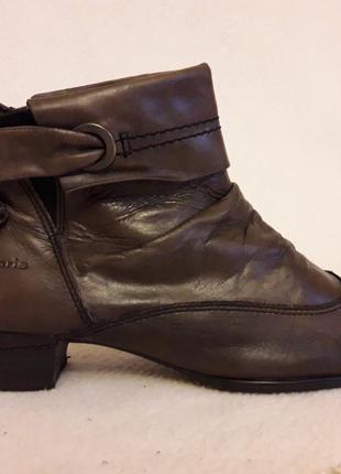 Кожаные утепленные ботинки фирмы tamaris ( германия) р. 40 стелька 26 см